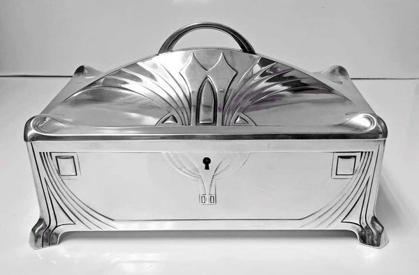 WMF Jugendstil Secessionist Large Jewelry or Cigar Box, Germany, circa 1906