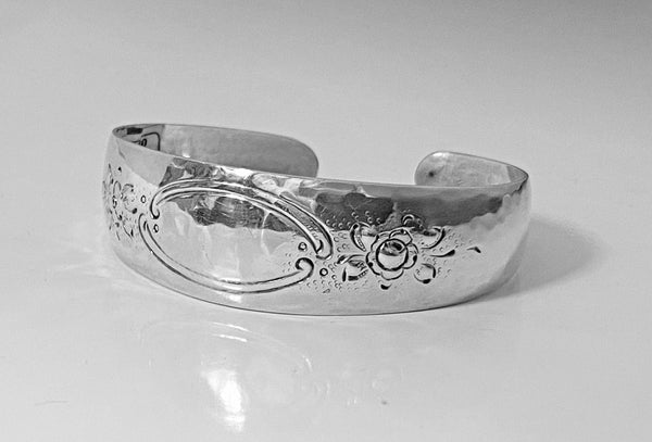 Randahl hand made hammered Sterling Bangle, Chicago C.1930