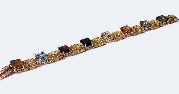 H. Stern 18K multi gem Bracelet, 20th century