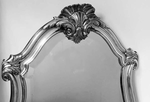 WMF Large Art Nouveau Silver on Pewter Mirror, Germany, circa 1900