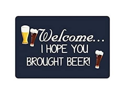 Paillasson-interieur-welcome-I-hope-you-brought-beer-noir