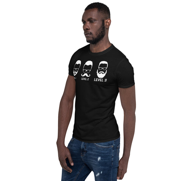 Level 1-3 Beard T- Shirt in Black-Shirt-The Gift Creators LTD