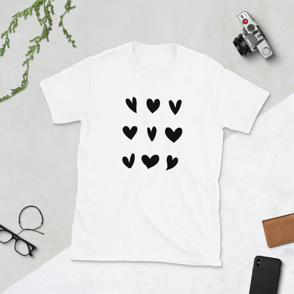 Heart Grid 3x3 T- Shirt-Shirt-The Gift Creators LTD