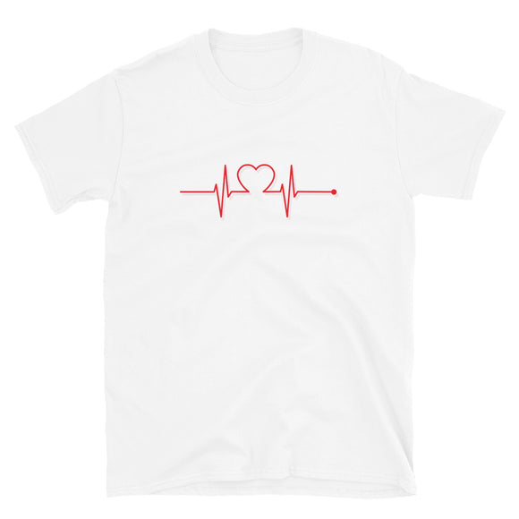 Heartbeat With Heart T-Shirt-Shirt-The Gift Creators LTD