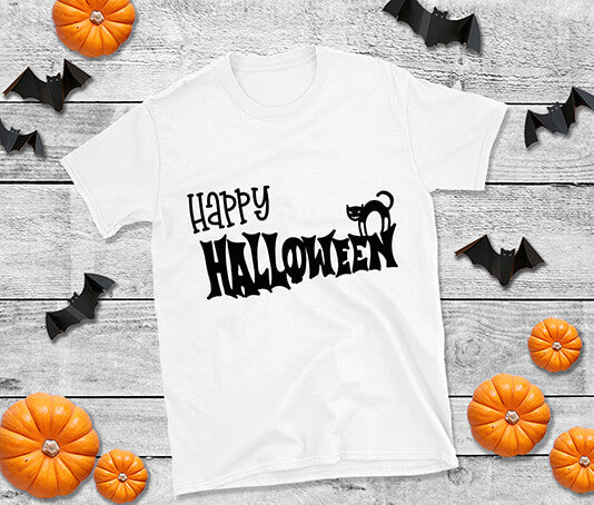Happy halloween black cat t shirt design