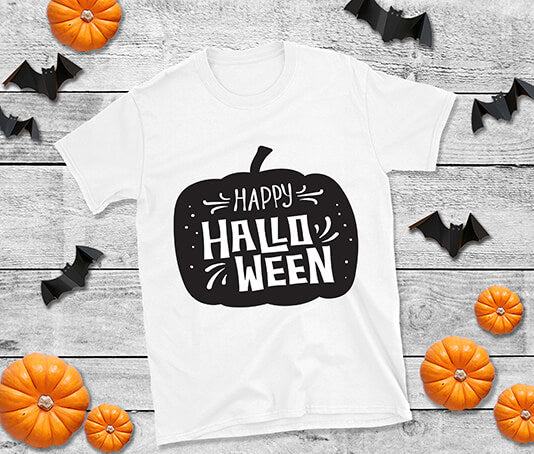 Cute Pumpkin Happy Halloween T shirt design