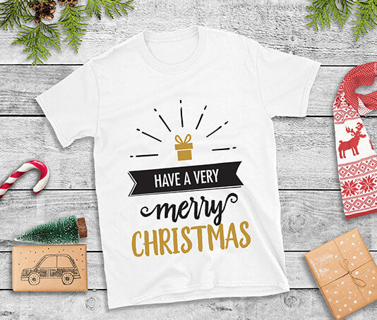 Have a very merry christmas with present t shirt design
