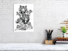 Load image into Gallery viewer, A collection of wildlife prints using brush pens to capture the personality, detail and poses.