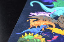 Load image into Gallery viewer, A digitally illustrated series of Dinosaurs using bright, bold and vibrant colours.