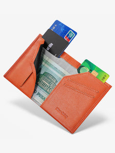 Bifold RFID Front Pocket Wallet (Orange)