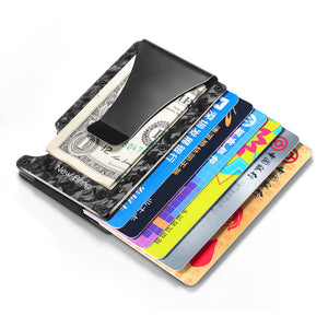 Forged Carbon Fiber Front Pocket RFID Wallet with Money Clip