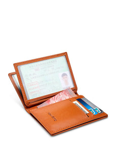 High-Fashion Drivers License Card Holder with Window (Orange)
