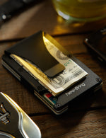 Load image into Gallery viewer, Metal Mini Money Clip Card Holder (Black)