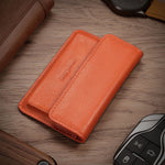 Load image into Gallery viewer, New-Bring Leather Front Pocket Card Case (Orange)