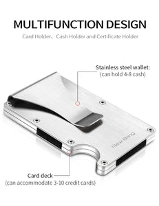Metal Mini Money Clip Card Holder (Silver)