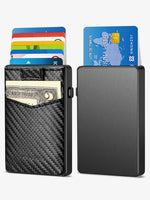 Load image into Gallery viewer, Pop up Bank Card Case (Carbon Fiber)