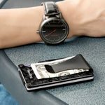Load image into Gallery viewer, Forged Carbon Fiber Front Pocket RFID Wallet with Money Clip