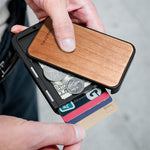 Load image into Gallery viewer, RFID Blocking Slim Flip Card Wallet (Walnut Cover)