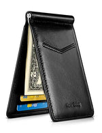 Load image into Gallery viewer, Front Pocket Card Holder with Money Clip and ID Window (Black)
