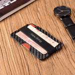 Load image into Gallery viewer, Carbon Fiber Slim Card Holder Clip