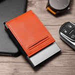 Load image into Gallery viewer, Auto Pop-Up Aluminium Credit Card Holder (Orange)