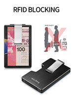 Load image into Gallery viewer, Minimalist RFID Blocking Card Holder with Money Clip (Black)