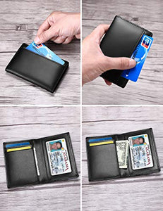Front Pocket Wallet With ID Window (Black)