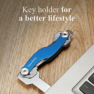 S Shape Smart Key Holder Organizer (Blue)