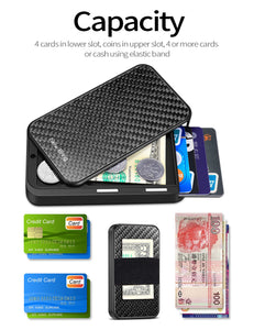 NewBring Slide Open Credit Card Holder Wallet (Grey)