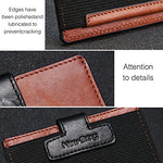 Load image into Gallery viewer, Handmade Genuine Leather Slim Wallet with Magnet (Black)