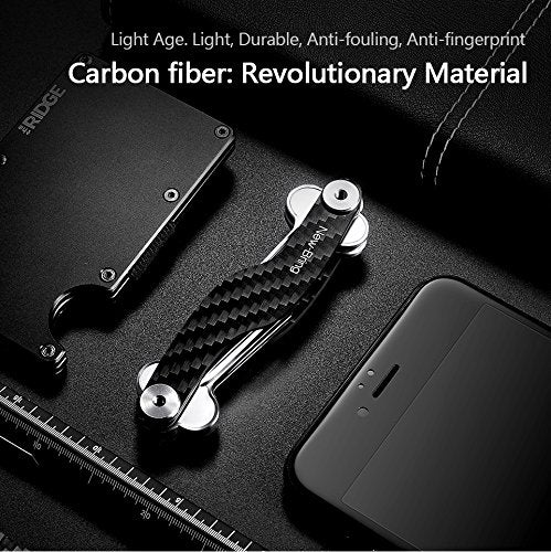 S Shape Smart Key Holder Organizer (Carbon Fiber)