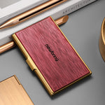 Load image into Gallery viewer, Colorful Wooden Pocket Business Card Case Wallet (Sakura)