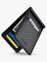 Load image into Gallery viewer, Front Pocket Card Holder with Money Clip and ID Window (Carbon Fiber)