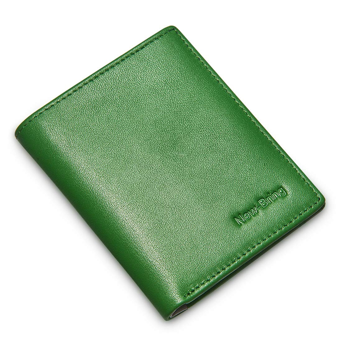 Men's Genuine Leather Travel Wallet (Green)