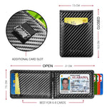 Load image into Gallery viewer, Card Holder with Money Clip and ID Window (Carbon Fiber)