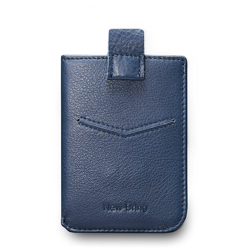 NewBring Men's Leather Billfold Wallet Slim Card Holder Front Pocket Minimalist Wallet, Blue