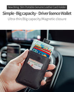Load image into Gallery viewer, Minimalist Front Pocket Wallet (Black)