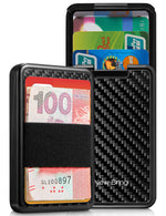 Load image into Gallery viewer, RFID Blocking Credit Card Holder with Money Clip (Carbon Fiber)