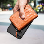 Load image into Gallery viewer, Leather Card Holder&Key Organizer Wallets (Orange)