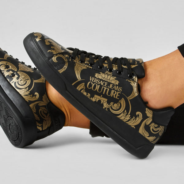 Black and Gold Baroque Lace Up