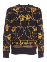 Black and Gold Chain Printed Sweater