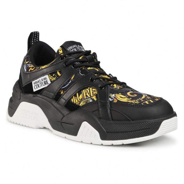 Black and Gold Baroque Sneaker