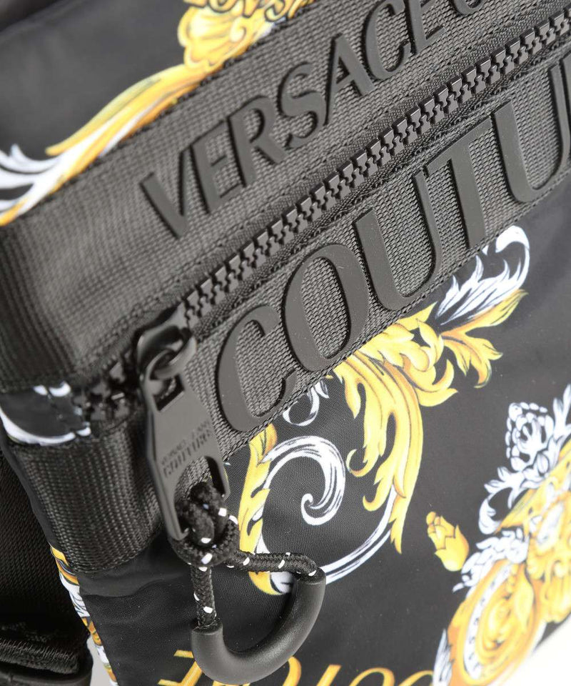 Black and Gold Baroque Small Side Bag