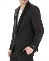 Black Dinner Suit with Sheen Shawl Lapel