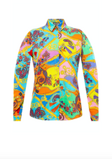 Multicoloured Paisley Print Button Up