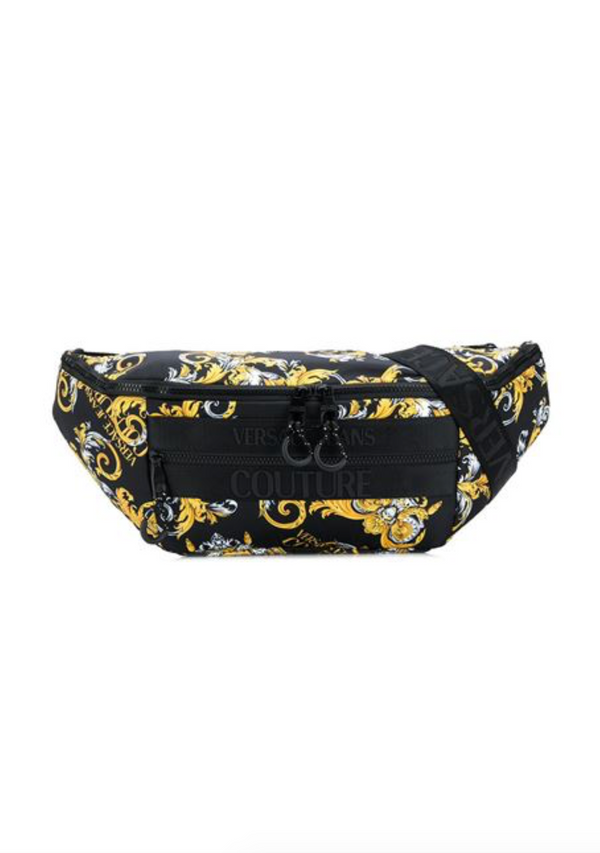 Black and Gold Baroque Waist Pack