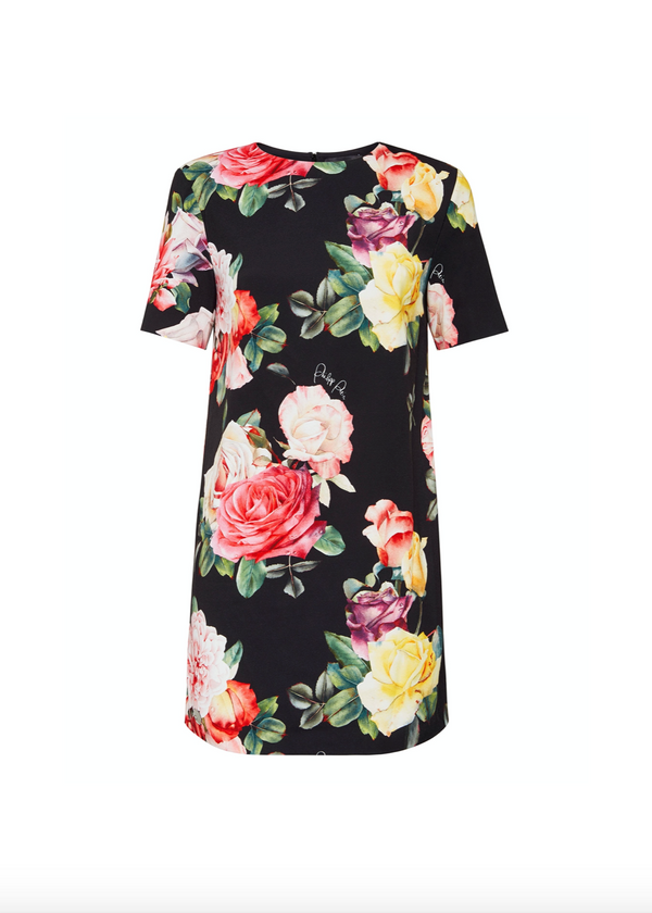 Sleeved Floral Dress