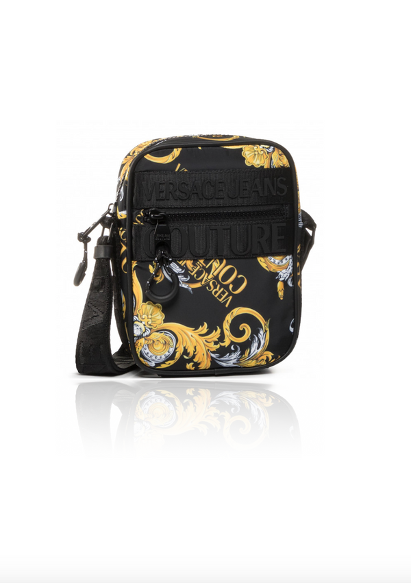 Black and Gold Baroque Zip Bag