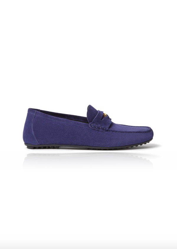 Leather Loafers in Blue