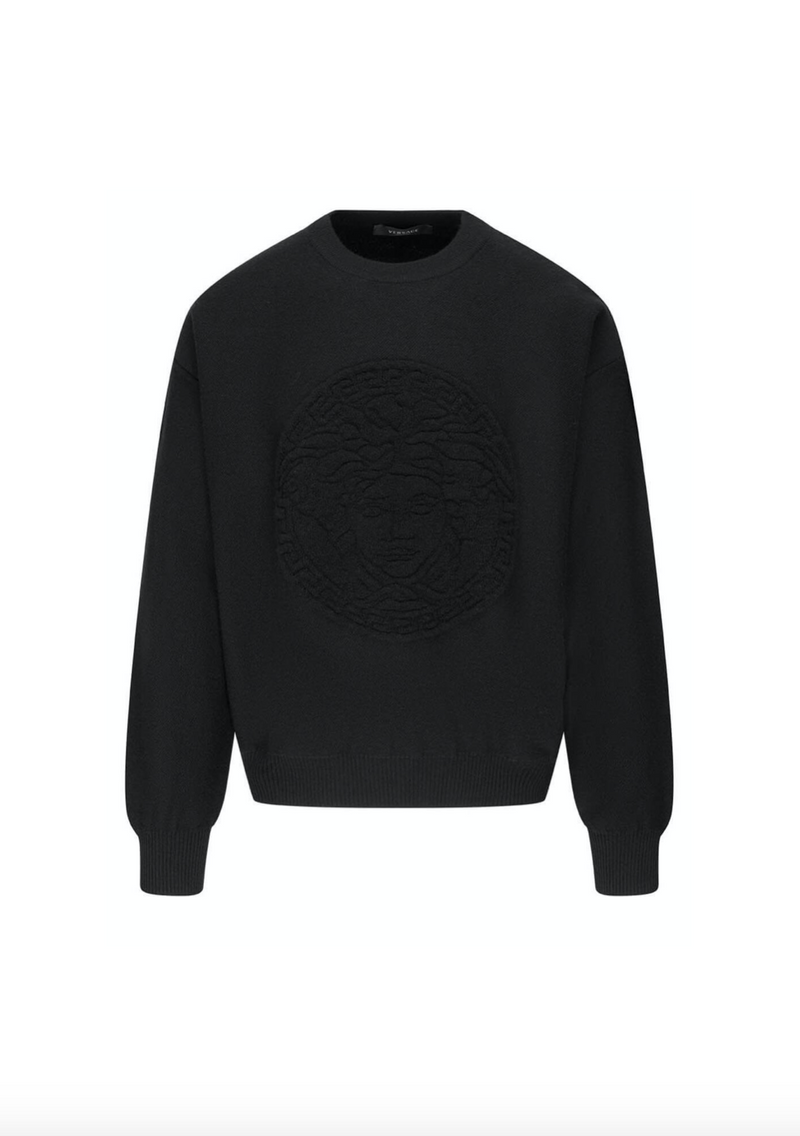 Wool Medusa Jumper in Black